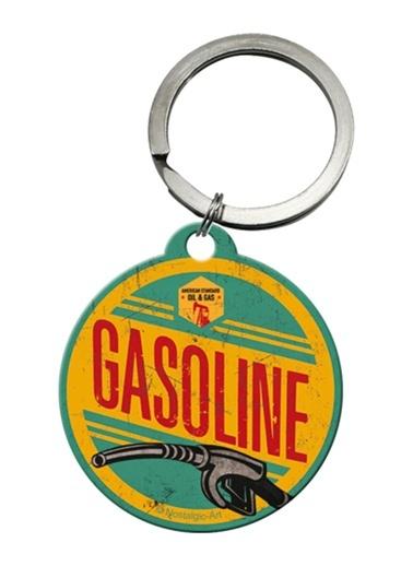 Gasoline Yuvarlak Anahtarlık (4 cm)-Nostalgic Art